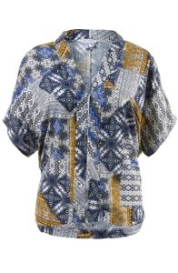 Gina Laura Kimono Blusenblazer bedruckt multicolor NEU, Größe:S
