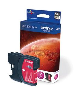 Brother LC-1100HYM Ink Cartridge, magenta, DCP-6690CW MFC-5890CN MFC-5895CW MFC-6490CW MFC-6890CDW, Tintenstrahl, 1,2 cm, 7,4 cm, 9,3 cm