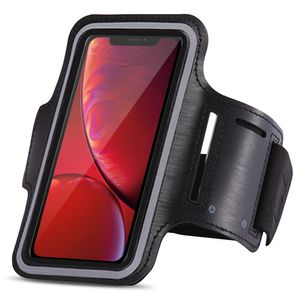 Sportarmband Apple iPhone Xr Jogging Tasche Hülle Fitnesstasche Lauf Sport Case, Farben:Schwarz