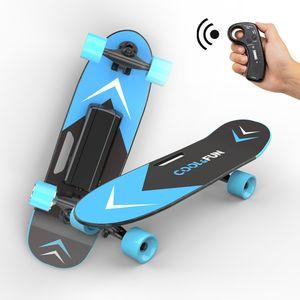 Elektrisches Skateboard mit Fernbedienung und Motor-Reichweite Ca 8 km, Motor 150W, Longboard E Skateboard Elektrisches Elektrolongboard
