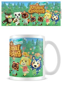 becher Animal Crossing line-up 325 ml Keramik weiß