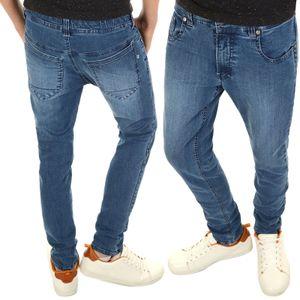 BEZLIT Jungen Jeanshose mit weit verstellbaren Bund Blau 128