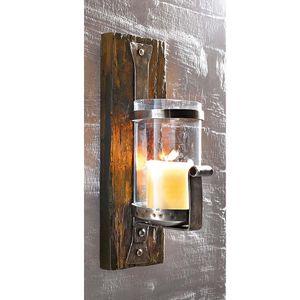 Wandkerzenhalter Wandleuchter Kerzenleuchter Wood Wanddeko Teelichthalter Pinie
