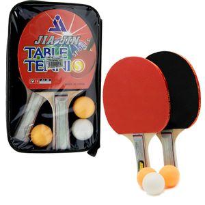 Tischtennis Schläger Set 5 tlg  2 Tischtennisschläger 3 Bälle ping pong handlich