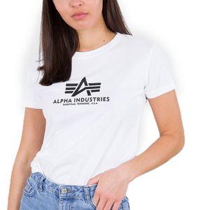 Alpha Industries Damen New Basic T-Shirt weiß M