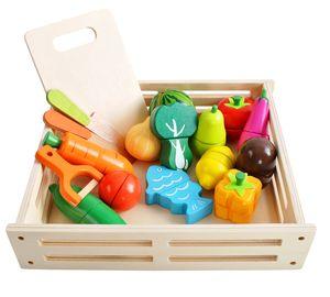 Holz Obst und Gemüse Schneiden Lebensmittel Kinderküche Küchenspielzeug 9430