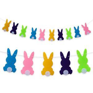 Oblique Unique Hasen Girlande Osterhasen Kaninchen Kinderzimmer Deko Kinder Geburtstag