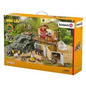 Schleich - Tierfiguren, Dschungel Forschungsstation Croco; 42350