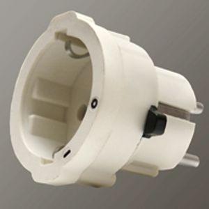 Schutzkontakt-Steckdose schaltbar Stecker mit Schalter Schutzkontaktstecker Zwischenstecker