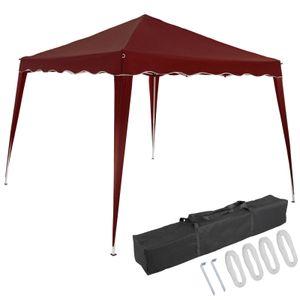 Pavillon oder Seitenwand 3x3m UV-Schutz 50+ wasserdicht faltbar inkl. Tasche Faltpavillon Zubehör Pop Up Zelt Capri, Farbe:rot