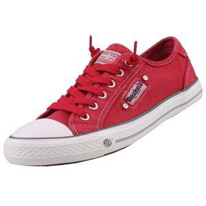 Dockers by Gerli Damen Canvas Sneaker Rot, Schuhgröße:EUR 38