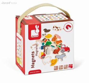 JANOD Magnete Bauernhof 24 Stück Spielzeug Küchenmagnete Tafelmagnete