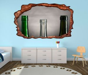 3D Wandtattoo Weinflaschen leer retro Stillleben selbstklebend Wandbild Tattoo Wohnzimmer Wand Aufkleber 11L2363, Wandbild Größe F:ca. 162cmx97cm