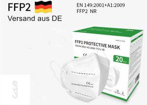 100er Atemschutzmaske Schutzmaske FFP2, Maske ≥95% EU  1463 mit Doppel-S-Klemmhaken