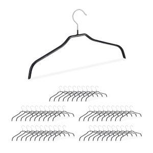 relaxdays 50 x Rutschfeste Kleiderbügel Hemdenbügel Antirutsch Bügel gummiert Blusenbügel