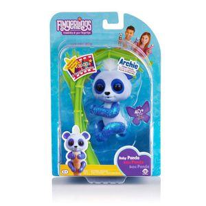 WowWee 3563 - Fingerlings - Glitzer-Babypanda Archie, Blau/Weiß