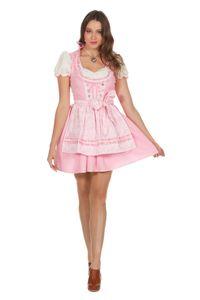 Damen Kostüm Dirndl Oktoberfest Kleid Bluse Schürze rosa Gr.36