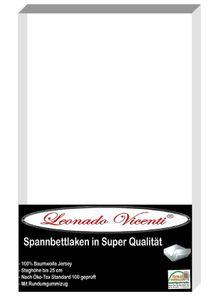 Spannbettlaken 140-160x200 cm Baumwolle Jersey Weiß