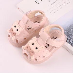 Kleinkind Kleinkind Kinder Baby Mädchen Aushöhlen Party Katze Leder Schuhe Sandalen Größe:23,Farbe:Rosa
