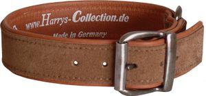 Hundehalsband aus feinstem Leder in vielen Farben von 28-48 cm, Farben:rost, Halsbandgöße:48