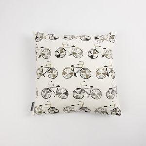 Schöner Leben Kissenhülle Fahrrad weiß schwarz grau 50x50cm