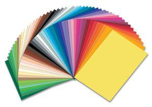 folia Tonpapier (B)250 x (H)350 mm 130 g/qm sortiert 50 Blatt