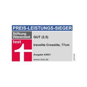 Travelite Crosslite 2w Trolley S erw. schwarz 89507-01 mit 2 Rollen Koffer
