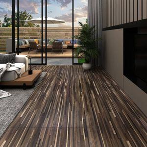 PVC Laminat Dielen 5,26 m² 2 mm Gestreift Braun