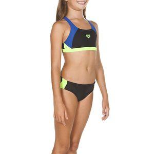 arena Sport Bikini Mädchen G Ren Sportlicher Bikini mit UV-Schutz , Farbe:Schwarz, Kinder Größen:164