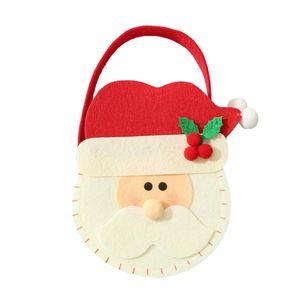 Äpfel / Süßigkeiten / Pralinen Geschenke Taschen Stoff für Christams Weihnachtsmann 20x15cm