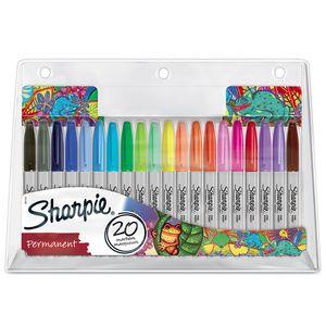 Sharpie Permanent Marker | Marker Stifte mit feiner Spitze | gemischte Farben | 20er Set