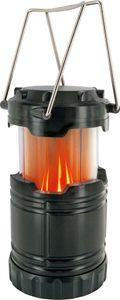 SCHWAIGER -CALED1 533- LED Campingleuchte mit Lagerfeuer Effekt, Schwarz