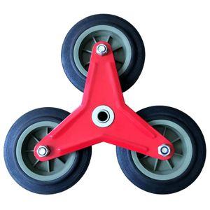 PU-Vollgummi Treppensackkarrenrad Ersatzrad Räder Reifen Sackkarre Sternförmig