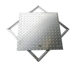 HOFMANINGER Schachtabdeckung Schachtdeckel Tränenblech 800 x 800 mm | verzinkt