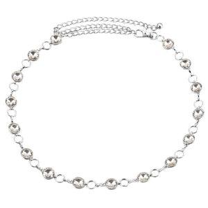 Damen Stilvolle Strass Taille Kettengürtel Diamante Hüftgurt Bund Farbe 6