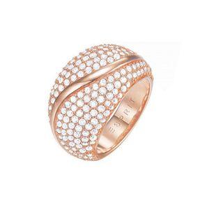 Esprit Damen Ring Messing Rosé Atropia ESRG02844C1, Ringgröße:57 (18.1 mm Ø)