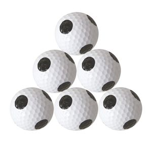 6 Stücke Golfbälle, Weiß Schwarz Golf Trainingsbälle Für Driving Range,