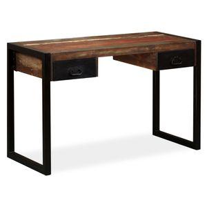 vidaXL Schreibtisch mit 2 Schubladen Altholz Massiv 120x50x76 cm
