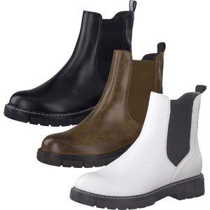 MARCO TOZZI Damen Chelsea Boots Stiefeletten Stiefel 2-25404-27, Größe:40 EU, Farbe:Schwarz