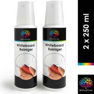 OfficeTree Whiteboard Reiniger Spray 2 x 250 ml - Whiteboard Cleaner Pumpspray