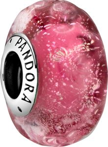 Pandora Colours Charm 798872C00 Wavy Fancy Pink Silber 925 Pink Murano Glas