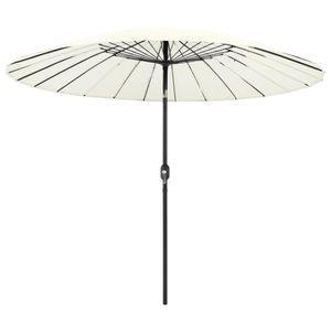 vidaXL Sonnenschirm mit Aluminium-Mast 270 cm Sandweiß