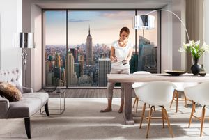 """Komar Fototapete """"Penthouse"""", grau, 368 x 254 cm"""