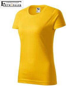 T-Shirt gelb XL Damenshirt Furtwängler Classic 145g/m² verstärkte Schulterpartie Baumwolle