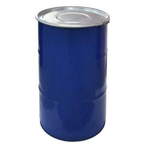 meier Stahlfass 120 Liter Hobbock Deckelfass   Metall Blechfass Mülleimer Behälter Kübel mit 2 Seitlichen Fallgriffen   Stabil und gefüllt Stapelbar   Konisch