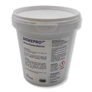 DEWEPRO WasserkastenWürfel 1 Dose à 10 Stück - für den Spülkasten vieler Hersteller (z.B. Geberit, Sanit) mit Einwurfschacht
