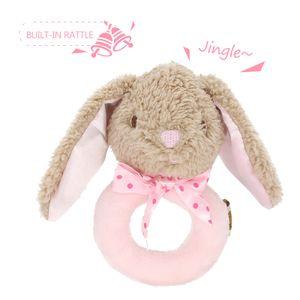 Kuscheltiere,Baby Rassel Spielzeug,beruhigender Kinderstock, Kaninchenrassel, rosa