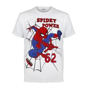 Spider-Man - Spidey Power T-Shirt für Jungen PG777 (158) (Weiß/Rot/Blau)