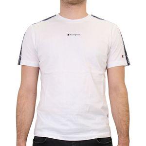 Champion T-Shirt mit Streifen Herren Weiß (214229 WW001) Größe: L