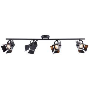 BRILLIANT MOVIE LED Deckenstrahler 84 cm Metall Schwarz matt 4-Flammig GU10